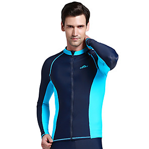 cheap Wetsuits, Diving Suits & Rash Guard Shirts-SBART Men's Elastane SPF50 UV Sun Protection Quick Dry Long Sleeve Swimming Diving Surfing Classic Spring Summer Fall / Winter / Beach