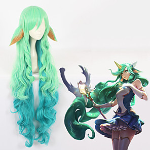 cheap Videogame Cosplay Accessories-LOL Cosplay Cosplay Wigs All 44 inch Heat Resistant Fiber Anime Wig