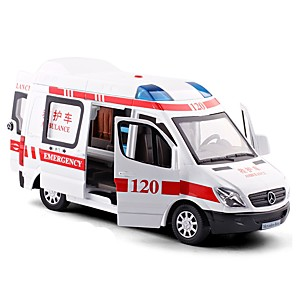 cheap Toy Cars-1:38 Toy Car Vehicles Police car Ambulance Vehicle City View Cool Exquisite Metal Alloy Mini Car Vehicles Toys for Party Favor or Kids Birthday Gift 1 pcs