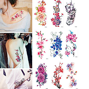 cheap Tattoo Stickers-10 pcs Temporary Tattoos Water Resistant / Waterproof Body / brachium Water-Transfer Sticker Tattoo Stickers