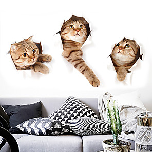 cheap Wall Stickers-Cute Funny Animals Decorative Wall Stickers - Plane Wall Stickers / Animal Wall Stickers Animals Indoor / Kids Room