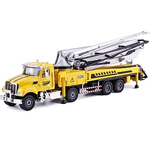 cheap Toy Trucks & Construction Vehicles-1:50 Toy Car Construction Vehicle Construction Truck Set Crane City View Exquisite Metal Mini Car Vehicles Toys for Party Favor or Kids Birthday Gift 1 pcs
