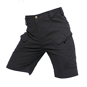 """cheap Hiking Trousers & Shorts-Men's Hiking Shorts Hiking Cargo Shorts Solid Color Summer Outdoor 10"""" Relaxed Fit Breathable Quick Dry Wear Resistance Multi Pocket Nylon Cotton Shorts Bottoms Black Army Green Khaki Camping"""