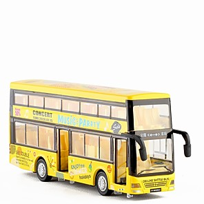 cheap Toy Cars-1:32 Toy Car Double-decker Bus Bus New Design Metal Alloy Mini Car Vehicles Toys for Party Favor or Kids Birthday Gift 1 pcs