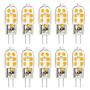 cheap LED Bi-pin Lights-10pcs G4 3W 200-300lm 12LED LED Bi-pin Lights 2835SMD Warm White Cool White Natural White Led Corn Bulb Chandelier Lamp AC 12V