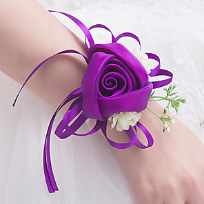 cheap Religious Jewelry-Wedding Flowers Wrist Corsages Party Evening / Wedding Party Polyester 0-10 cm
