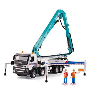cheap Toy Trucks & Construction Vehicles-1:50 Toy Car Transporter Truck Construction Vehicle Construction Truck Set Crane City View Exquisite Metal Mini Car Vehicles Toys for Party Favor or Kids Birthday Gift 1 pcs