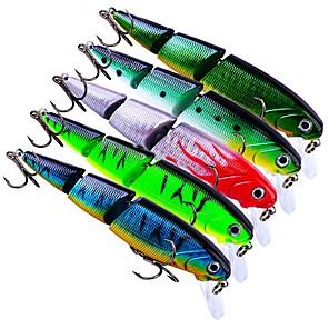 cheap Fishing Lures & Flies-5 pcs Fishing Lures Hard Bait Crank Outdoor Sinking Bass Trout Pike Bait Casting Lure Fishing General Fishing Plastic