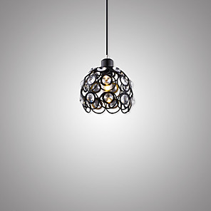 cheap Pendant Lights-1-Light 18 cm Pendant Light Metal Painted Finishes Traditional / Classic / Country 110-120V / 220-240V