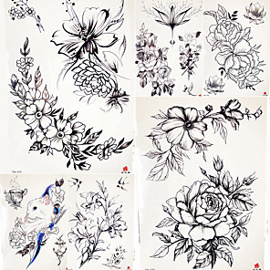 cheap Tattoo Stickers-5 pcs Temporary Tattoos Smooth Sticker / Safety Body / brachium / Shoulder Card Paper / Decal-style temporary tattoos