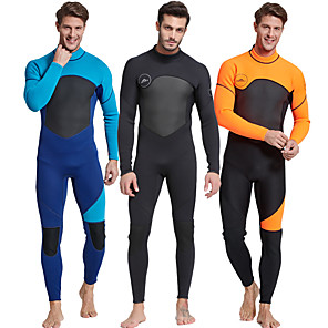 cheap Wetsuits, Diving Suits & Rash Guard Shirts-SBART Men's Full Wetsuit 3mm Nylon SCR Neoprene Diving Suit Thermal / Warm Long Sleeve Back Zip - Diving Water Sports Patchwork / Micro-elastic