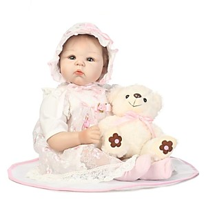 cheap Reborn Doll-NPKCOLLECTION 24 inch NPK DOLL Reborn Doll Girl Doll Baby Girl Reborn Toddler Doll Newborn lifelike Gift Child Safe Parent-Child Interaction Cloth 3/4 Silicone Limbs and Cotton Filled Body with