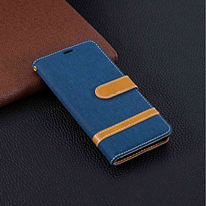 cheap Other Phone Case-Case For Nokia Nokia 5.1 / Nokia 3.1 / Nokia 2.1 Wallet / Card Holder / with Stand Full Body Cases Solid Colored Hard Textile