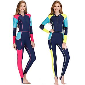 cheap Wetsuits, Diving Suits & Rash Guard Shirts-Women's Rash Guard Dive Skin Suit Spandex Swimwear Anatomic Design Full Body Front Zip - Surfing Windsurfing Wakeskating Autumn / Fall Spring Summer / Micro-elastic