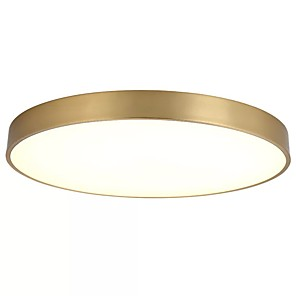 cheap Flush Mounts & Semi Flush Mounts-1-Light QIHengZhaoMing 40 cm Flush Mount Lights Metal Brass Modern 110-120V / 220-240V