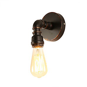 cheap Indoor Wall Lights-Loft Mini Retro Industrial Style Wall Sconce Restaurant And Bar Metal Water Pipe Wall Lamp Painted Finish