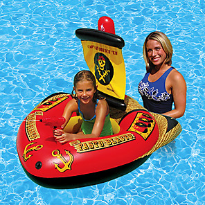 cheap Inflatable Ride-ons & Pool Floats-Inflatable Pool Float Inflatable Ride-on Inflatable Pool Funny Soft Plastic Summer Pirate Ship Pool Boys and Girls Kid's