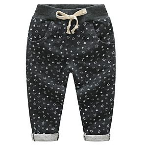 cheap Boys' Pants-Kids Boys' Basic Daily Galaxy Print Cotton Pants Black