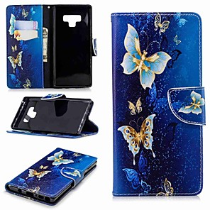 cheap Samsung Case-Case For Samsung Galaxy Note 9 / Note 8 Wallet / Card Holder / with Stand Full Body Cases Butterfly Hard PU Leather