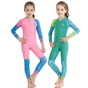 cheap Wetsuits, Diving Suits & Rash Guard Shirts-Dive&Sail Girls' Rash Guard Dive Skin Suit Spandex Diving Suit UV Sun Protection Breathable Quick Dry Full Body Front Zip - Swimming Snorkeling Watersports Cartoon Spring, Fall, Winter, Summer