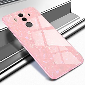 cheap Huawei Case-Case For Huawei Mate 10 / Mate 10 pro / Mate 9 Pattern Back Cover Marble Hard Tempered Glass