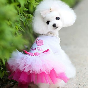 cheap Dog Clothes-Dogs Cats Pets Dress Dog Clothes Blue Pink Costume Husky Labrador Alaskan Malamute Cotton Jacquard Cotton Heart Love Lips Sports & Outdoors Dresses&Skirts XS S M L XL XXL