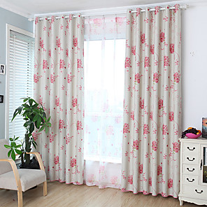 cheap Curtains Drapes-Two Panel Children's Room Living Room Bedroom Dining Room Embroidered Curtain