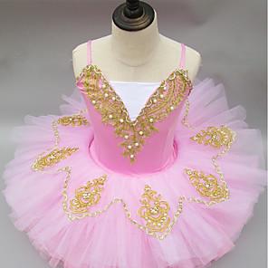 cheap Ballet Dancewear-Ballet Tutus Ruching Girls' Performance Sleeveless Spandex