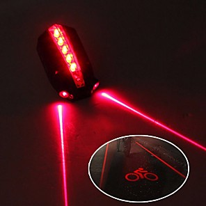 cheap Bike Lights & Reflectors-Laser Bike Light Rear Bike Tail Light Safety Light Mountain Bike MTB Bicycle Cycling Waterproof Adjustable Cool Quick Release 50 lm 2 AAA Batteries Red Cycling / Bike / IPX 6