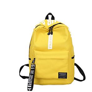 cheap Women's Heels-School Bag / Commuter Backpack Unisex Canvas Zipper School Red / Yellow / Green