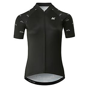 cheap Cycling Jerseys-Mysenlan Women's Short Sleeve Cycling Jersey Polyester White Black Bike Jersey Top Mountain Bike MTB Road Bike Cycling Sports Clothing Apparel / YKK Zipper