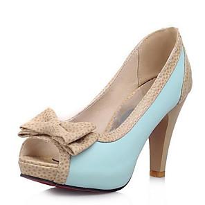 cheap Women's Heels-Women's Heels Stiletto Heel PU Basic Pump Summer Black / White / Blue / Daily