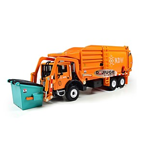cheap Toy Cars-Toy Truck Construction Vehicle Construction Vehicle Dump Truck Garbage Recycling Truck New Design Retractable Metal Alloy Mini Car Vehicles Toys for Party Favor or Kids Birthday Gift 1 pcs / Kid's