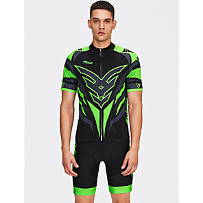 cheap Cycling Jersey & Shorts / Pants Sets-21Grams Men's Short Sleeve Cycling Jersey with Shorts - Black Bike Shorts / Jersey / Bib Tights, Breathable, Quick Dry Coolmax®, Lycra Classic / High Elasticity / Clothing Suit