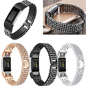 cheap Smartwatch Bands-Watch Band for Fitbit Charge 2 Fitbit Sport Band / Jewelry Design Stainless Steel / Ceramic Wrist Strap