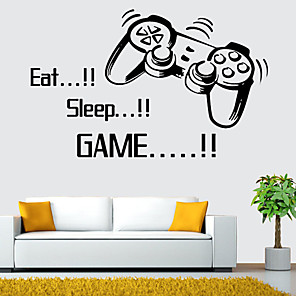 cheap Wall Stickers-Decorative Wall Stickers - Plane Wall Stickers Characters / Shapes Living Room / Bedroom / Bathroom / Re-Positionable