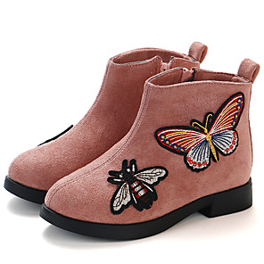 cheap Kids' Boots-Girls' Bootie PU Boots Little Kids(4-7ys) / Big Kids(7years +) Black / Burgundy / Pink Fall / Winter / Booties / Ankle Boots