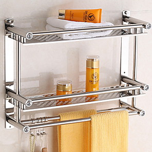 cheap Towel Bars-Bathroom Shelf Premium Design / Cool Contemporary Stainless Steel 1pc Wall Mounted