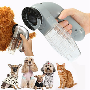 cheap Dog Training & Behavior-Dog Cat Pet Electric Hair Grooming Vacuum Cleaner Fur Shedding Remover Trimmer Brush Comb