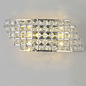 cheap Indoor Wall Lights-Crystal LED / Modern / Contemporary Wall Lamps & Sconces Shops / Cafes / Office Metal Wall Light 110-120V / 220-240V 3 W / LED Integrated