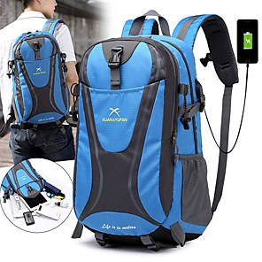 cheap Backpacks & Bags-55 L Hiking Backpack Rucksack Breathable Straps - Rain Waterproof Quick Dry Wear Resistance High Capacity Outdoor Hiking Camping Travel Nylon Red Green Blue