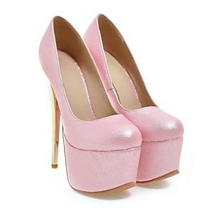 cheap Women's Heels-Women's Heels Stiletto Heel Synthetics Mary Jane / Basic Pump Spring White / Blue / Pink / Daily