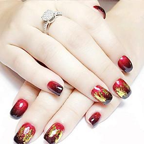 cheap Smartwatch Bands-12pcs mixed color foil nail art decoration golden silver colorful foil