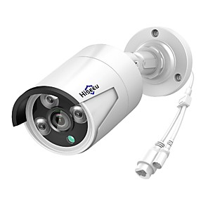 cheap Outdoor IP Network Cameras-Hiseeu® H.265 Security IP Camera POE 4MP Outdoor Waterproof IP66 CCTV Camera P2P Video Surveillance Home Security ONVIF 48V Motion Detection Day Night Remote Access