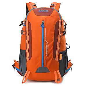 cheap Backpacks & Bags-40 L Rucksack Breathable Rain Waterproof Wear Resistance High Capacity Outdoor Hiking Camping Travel Nylon Orange Yellow Green / Yes