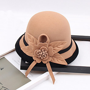 cheap Party Hats-Other Material Hats with Flower 1pc Wedding / Party / Evening Headpiece