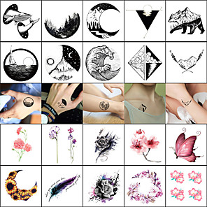cheap Tattoo Stickers-decal style temporary tattoos face body wrist temporary tattoos 40 pcs totem series animal series smooth sticker safety body arts masquerade bachelor