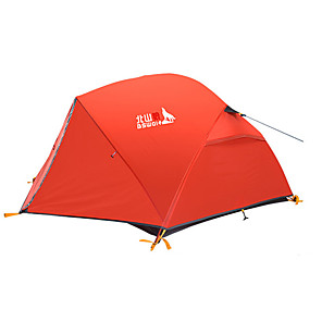 cheap Tents, Canopies & Shelters-BSwolf 2 person Backpacking Tent Outdoor Rain Waterproof Breathability Double Layered Poled Camping Tent 2000-3000 mm for Fishing Climbing Camping / Hiking / Caving Oxford Cloth Terylene 210*135*100