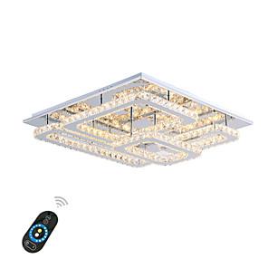 cheap Dimmable Ceiling Lights-1-Light 60cm(24 Inches) Crystal / LED Flush Mount Lights Metal Chrome Modern Contemporary 110-120V / 220-240V
