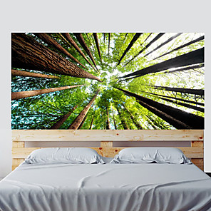 cheap Wall Stickers-Color Forest Living Room Tv Background Wall Stickers Bedroom Bedside Art Decoration Art Ornament Wallpaper Sticker 1 set 2pcs